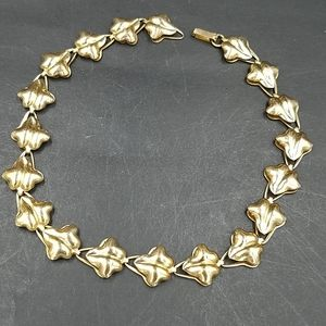 Vintage Coro Linked Leaves Necklace